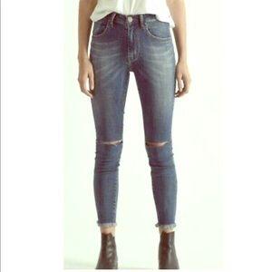 ONE X ONE TEASPOON High Waist Freebirds II Jeans